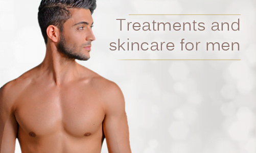 Treatments and products for men of all skin types including Asian, Arab, Black, Caribbean, Indian, Oriental, Chinese, Japanese, White, Caucasian.